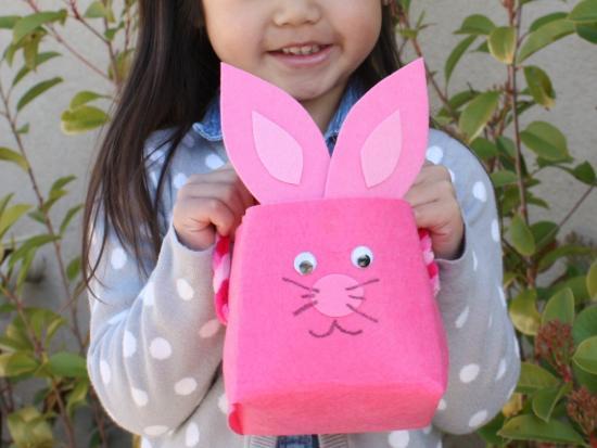 No-Sew Bunny Basket