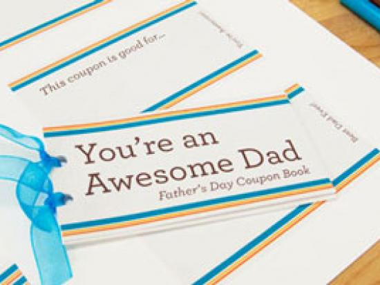 Handmade Coupon Book for Father's Day