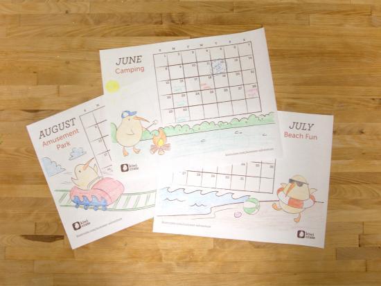 Summer 2014 Printable Calendar