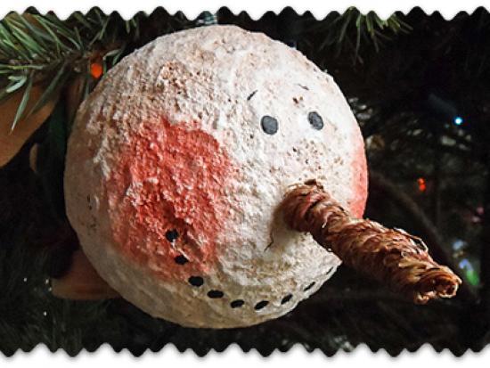 Jumbo Vintage Snowman Ornament