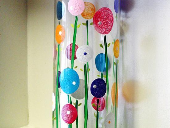 Spring Poppy Flower Vase