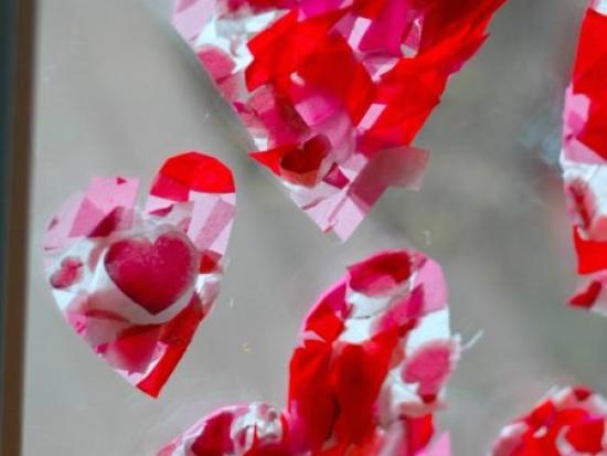 Tissue Paper Valentine Heart