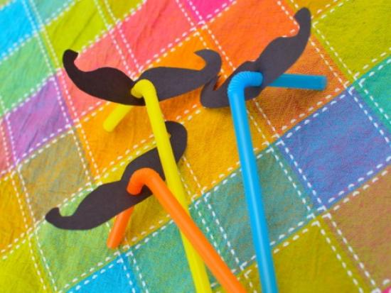 Silly Moustache Straws
