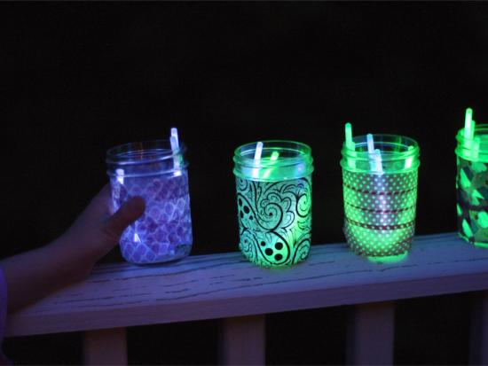 Camping Craft: Mason Jar Lights