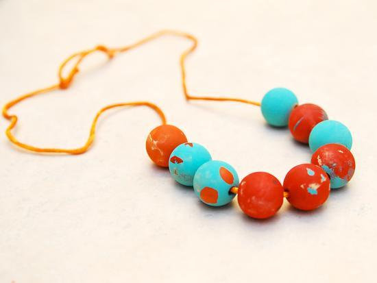 Painted Wooden Bead Necklaces