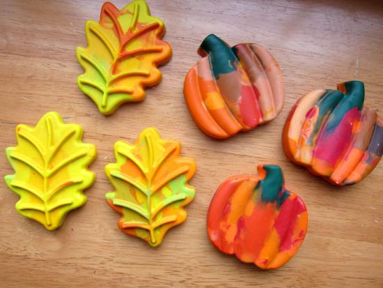 Leaf-Shaped Crayons