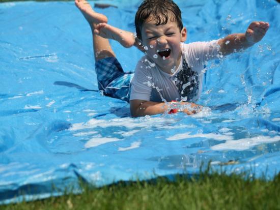 DIY water-slide