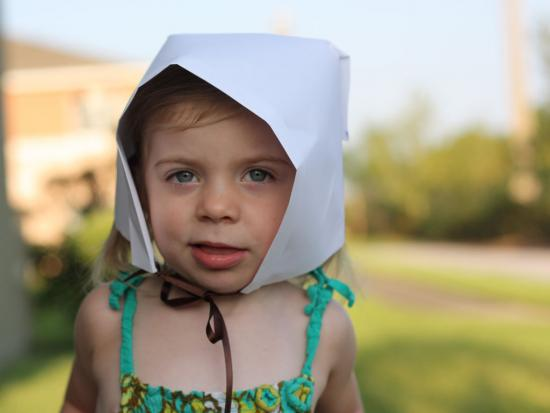 Simple Paper Pilgrim Bonnet