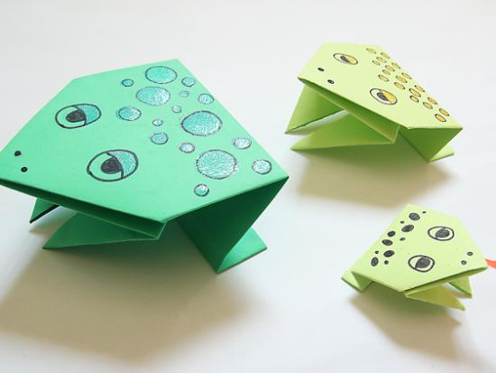 Simple Origami Jumping Frogs For Passover