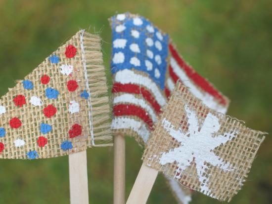 DIY Burlap American Flags
