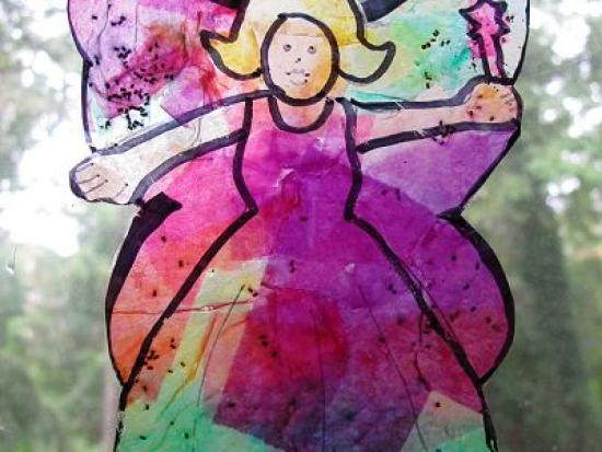 Stained Glass Fairy Suncatcher
