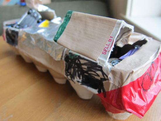 Egg Carton Transport Ship