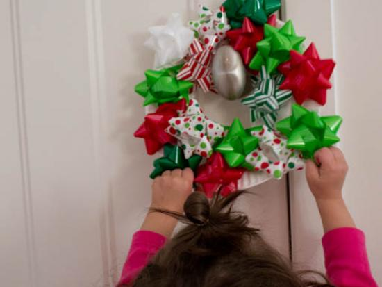 Gift Bow Christmas Wreath