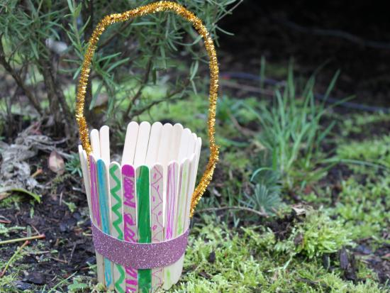Craft Stick Basket