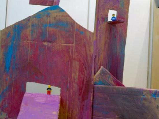 Freestyle Cardboard Painting Turned Castle (Saves the Day)