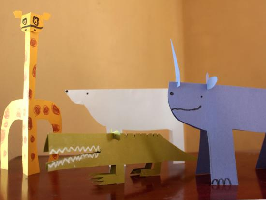 Folded Paper Animals