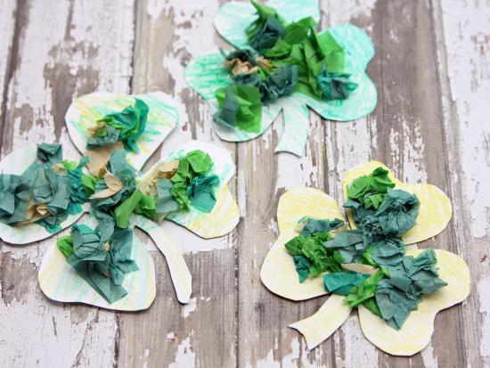 Magnetic Tissue Paper Shamrocks