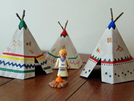 How to Make Mini Teepees/Tipi