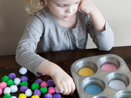 Spring Color Sorting and Counting Activity