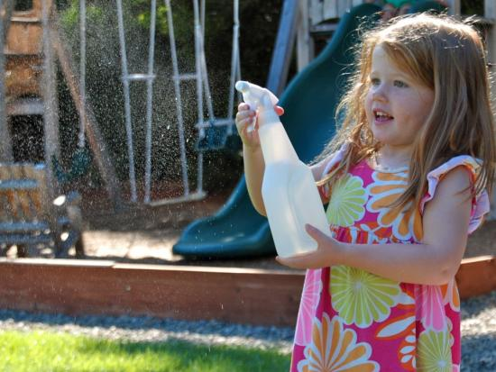 Spray Bottle = Fun!