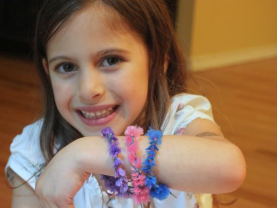 Pipe Cleaner Wrapped Bracelets