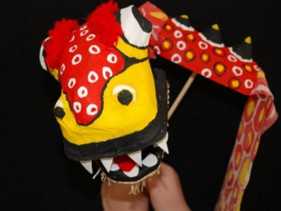 Make a Chinese Dragon Puppet
