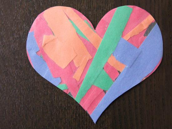 Torn Paper Hearts