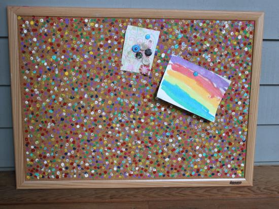 confetti cork board kids crafts activities for