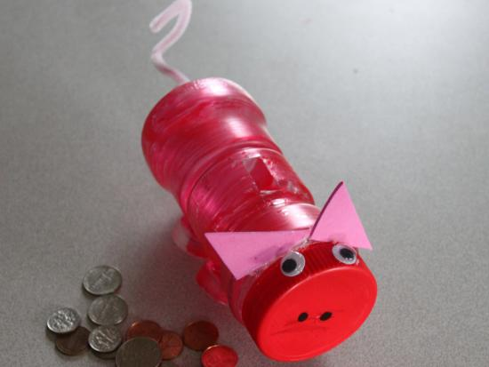 Recycled piggy bank kids crafts activities for for How to make a piggy bank you can t open