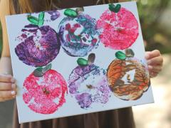Apple Stamp Art