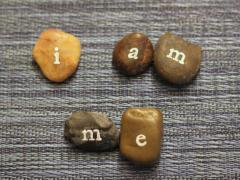 Stamped Rock Words