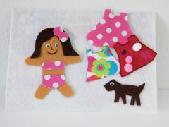 Portable Doll Dress-up Board