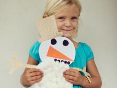 Cotton Snowman