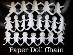 Paper Doll Chain