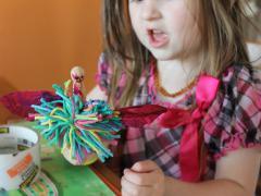 Clothespin Pom Pom Fairy
