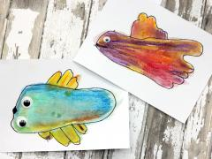 Watercolor Fish Feet
