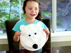 Shaving Cream Polar Bear