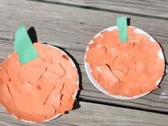 Rip and Glue Pumpkin Paper Craft