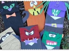 Halloween Craft: Paper Bag Puppets