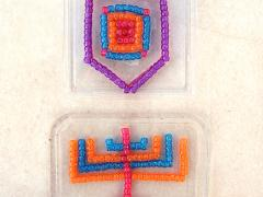 Hanukkah Themed Beaded Sun Catchers On Recycled Lids
