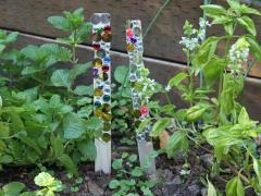 Jeweled Garden Sticks