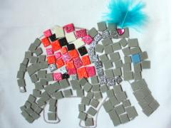 Mosaic Indian Elephant