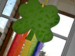 Shamrock & Rainbow Wall Hanging
