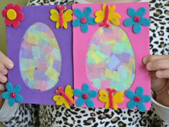 Easter Egg Suncatcher Plaque