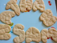 Dough + Baking Sheet = Alphabet Cookies
