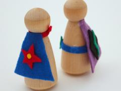 Superhero Wooden Peg Dolls