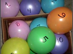 Numbered Balloon Hide and Go Seek