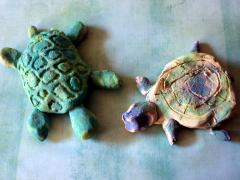 Watercolor Clay Turtles