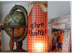 Thanksgiving Luminary Vase