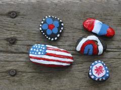 Patriotic Rocks
